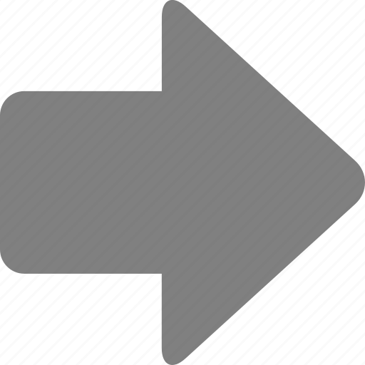 arrow, direction, forward, move, navigation, pointer, right icon