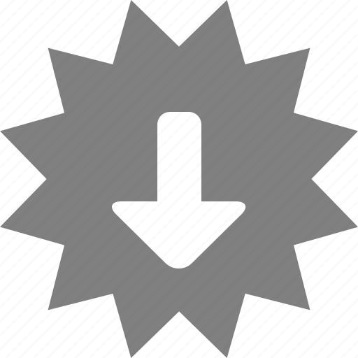 arrow, discount, down, download, offer, sale, tag icon