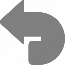 arrow, back, backward, left, previous, undo icon