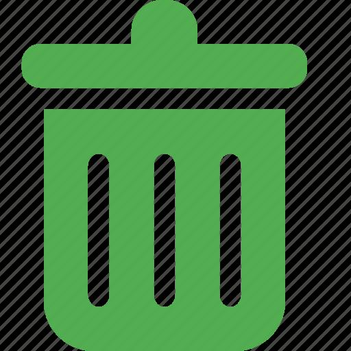 bin, delete, erase, garbage, recycle, remove, trash icon