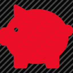 bank, credit, finance, money, pig, piggy, saving icon