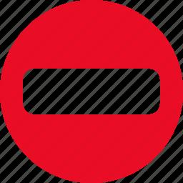cancel, close, delete, minus, remove, stop icon