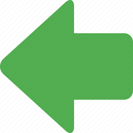 arrow, back, direction, left, move, navigation, pointer icon