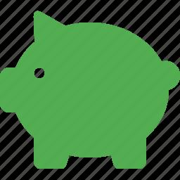 bank, banking, cash, finance, money, piggy, savings icon