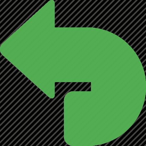 arrow, back, direction, left, navigation, pointer, undo icon