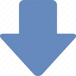 arrow, direction, down, download, location, navigation icon