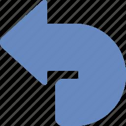 arrow, back, previous, revert, rollback, rotate, undo icon