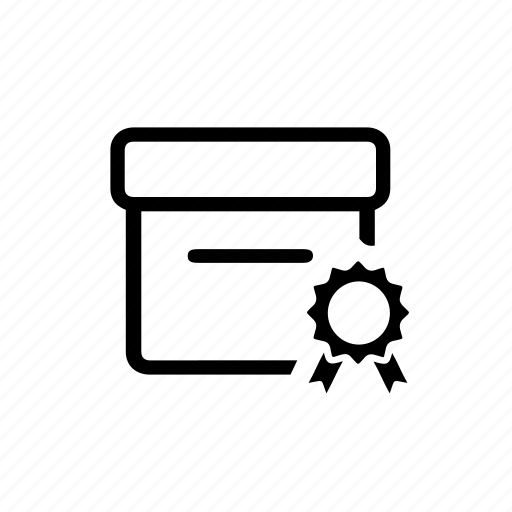 box, certification, delivery, package, parcel, quality icon