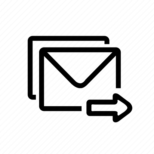 email, mail, message, notice, sending, service icon
