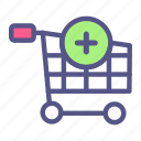 add, buy, cart, commerce, ecommerce, online shop, shopping icon