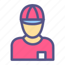 avatar, commerce, delivery, ecommerce, man, online shop icon