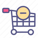 cancel, cart, ecommerce, online shop, remove, shop, shopping icon