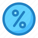 circle, coupon, discount, percent, percentage icon