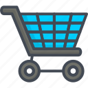business, cart, filled, outline, shopping