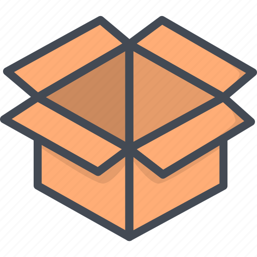 box, business, delivery, filled, outline icon