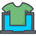 business, e-commerce, ecommerce, filled, online, outline, shopping, t-shirt, web icon