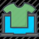 business, e-commerce, ecommerce, filled, online, outline, shopping, t-shirt, web