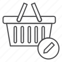 basket, cart, delete, edit, items, remove from cart icon