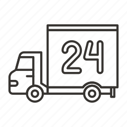 delivery, gift, shipping, transport, truck, van, vehicle icon