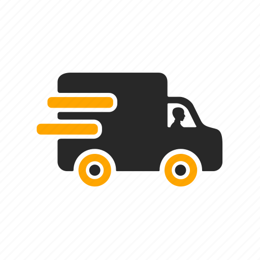 delivery, delivery car, logistics, shipping, transport, truck, van icon