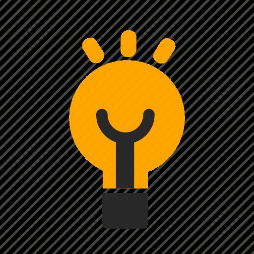 bulb, electrivity, idea, illumination, light, technology icon