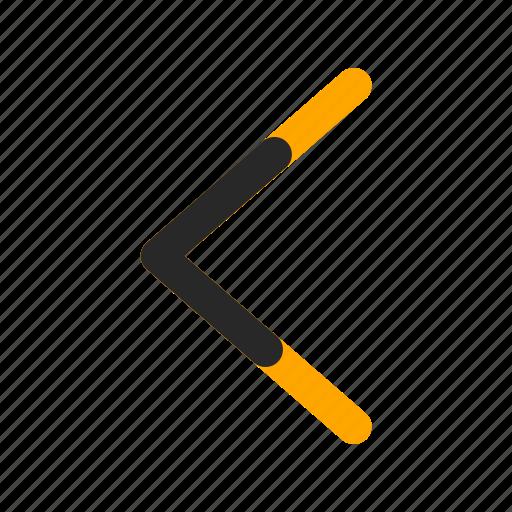 arrow, back, direction, left, navigation, previous, return icon