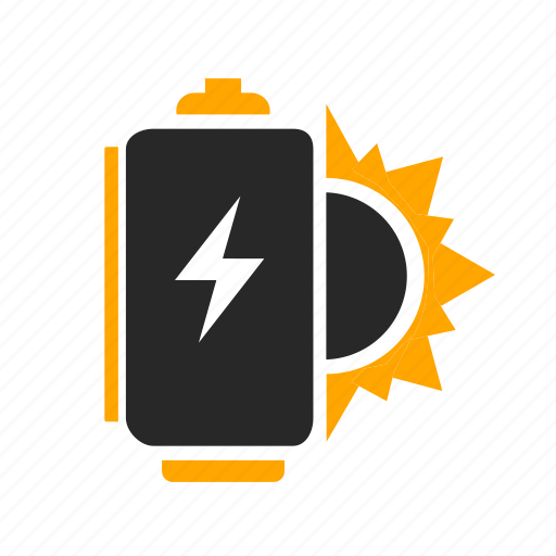 battery, charge, charging, energy, light, power, solar icon
