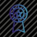 award, award badge, badge, gradient, ribbon icon