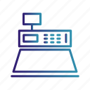 buy, cash counter, cash machine, e commerce, gradient icon