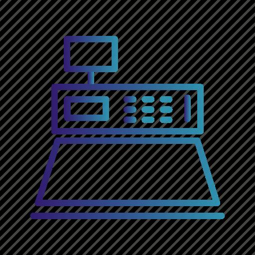 buy, cash counter, cash machine icon