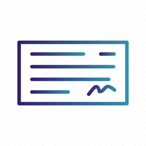 banking, cheque, payment icon