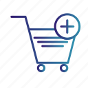 add to cart, cart, gradient, online shopping, trolley icon