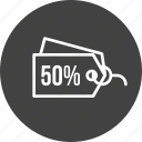 discount, ecommerce, label, off, offer, sell, tag icon