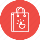 bag, cart, click, ecommerce, gesture, shop, shopping icon
