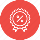 award, badge, ecommerce, finance, medal, percentage, winner icon