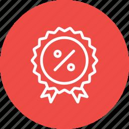 award, badge, ecommerce, finance, medal, percentage, winner icon