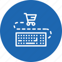 cart, ecommerce, finance, input, keyboard, sale, shopping icon