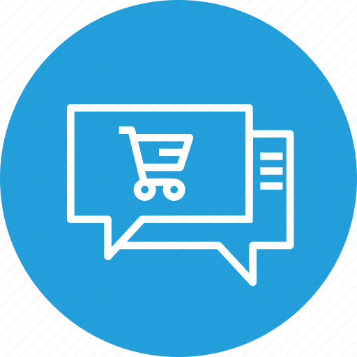 chat, ecommerce, mail, notification, offer, shop, shopping icon