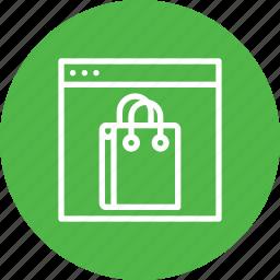 bag, carrybag, cart, handbag, shop, shopping, window icon
