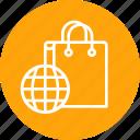 bag, carrybag, cart, ecommerce, shop, shopping, world icon