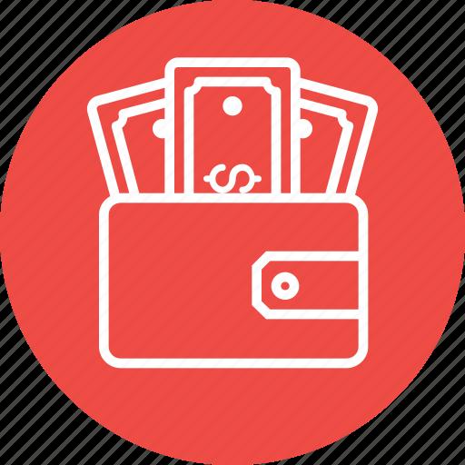 dollar, ecommerce, finance, money, purse, wallet icon