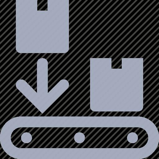 box, conveyor, delivery, sort, sorting icon