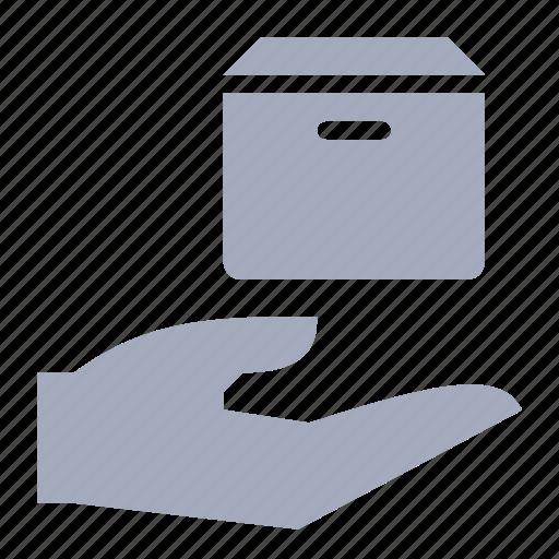 box, delivery, hand, parcel, send icon