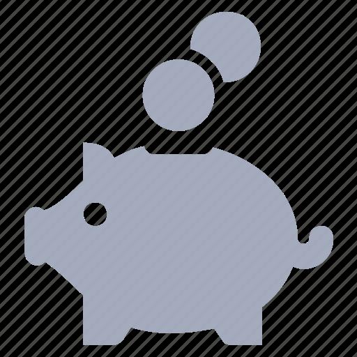 cash, coins, money, moneybox, piggy icon