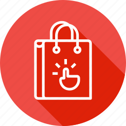 bag, cart, ecommerce, hand, online, shop, shopping icon