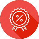 award, badge, finance, medal, percentage, ratio, winner icon