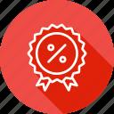 award, badge, finance, medal, percentage, ratio, winner icon