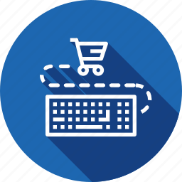 cart, ecommerce, finance, keyboard, sale, shopping icon
