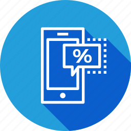 discount, ecommerce, finance, mobile, offer, profit, sale icon