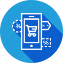 label, mobile, offer, online, sale, store, tage icon
